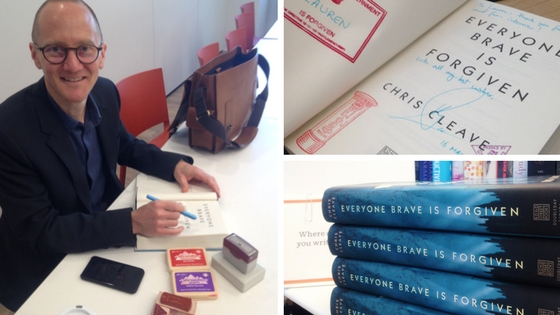 Met this author, LOVED this book: 'Everyone Brave is Forgiven' by Chris Cleave[Review]